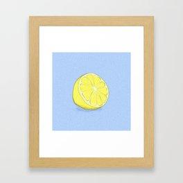 Lemon on Lavender Blue Framed Art Print