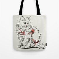 huebucket Tote Bags featuring Fish Tank by Huebucket