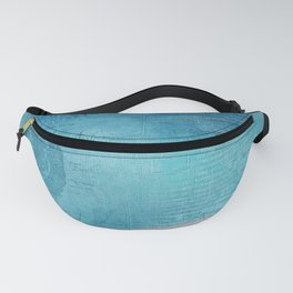 Decorative Blue Writing Texture Vintage Fanny Pack