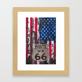 US Flag Framed Art Print