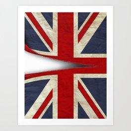 Ripped Union Jack Art Print