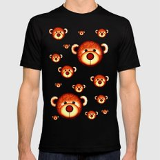 Bear 2 SMALL Black Mens Fitted Tee