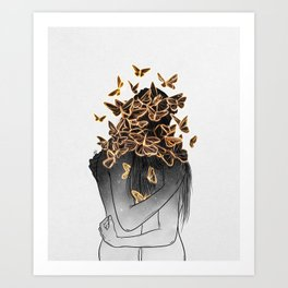 The butterflies of love. Art Print