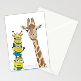 Giraffe Minion Stationery Cards