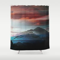 pocket fuel Shower Curtains featuring COV00 - NOSTALGIA FUEL by Temp