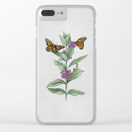 Monarch Butterfly Life Cycle Clear iPhone Case