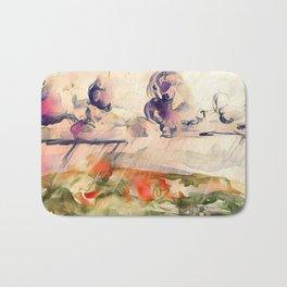Stormy Landscape Purple Orange by CheyAnne Sexton Bath Mat