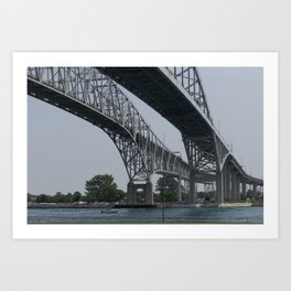 Bluewater Bridge 4 Art Print