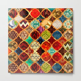 -A32- Epic Colored Traditional Moroccan Artwork. Metal Print