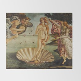 The Birth of Venus by Sandro Botticelli Throw Blanket