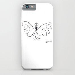 Pablo Picasso Butterfly Artwork T Shirt, Reproduction Sketch iPhone Case