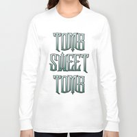 haunted mansion Long Sleeve T-shirts featuring Haunted Mansion - Tomb Sweet Tomb by Brianna