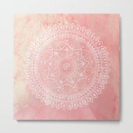 Pink Mandala Metal Print