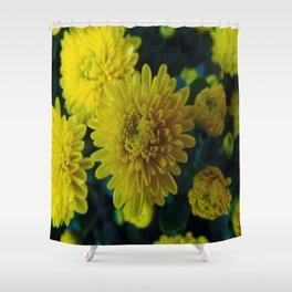 Yellow Flowers Shower Curtain