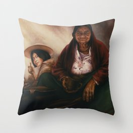 Waiting for the Sunset Throw Pillow