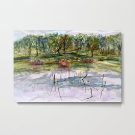 The Mill Pond Metal Print