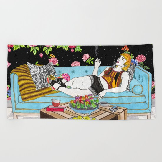 Relax Time Beach Towel