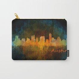 Austin Texas, City Skyline, watercolor  Cityscape Hq v4 Dark Carry-All Pouch