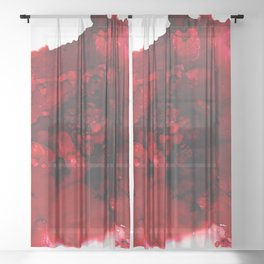 Muladhara (root chakra) Sheer Curtain