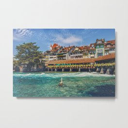Thun, Switzerland - 2 Metal Print