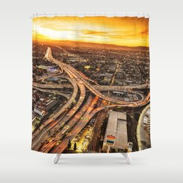 los angeles junction Shower Curtain