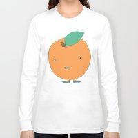 orange pattern Long Sleeve T-shirts featuring Orange by Maaike Ankum