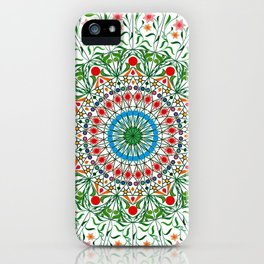 BOHEMIAN MANDALA CIRCLE DESIGN iPhone Case
