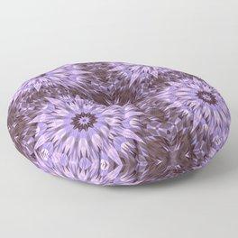 Burgundy Lavender Crysal Mandala Floor Pillow