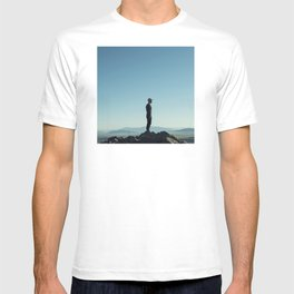 Alone in the blue summit T-shirt