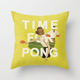 Time For Pong Throw Pillow