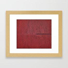 profound red Framed Art Print