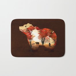 Bears in the Woods Bath Mat