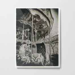 OLD CAROUSEL IN PARIS (Old plate camera) Metal Print