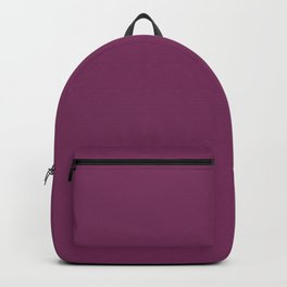 Dark Violet - Jam - Mulberry - Boysenberry Solid Color Parable to Pantone Glistening Grape 20-0113 Backpack