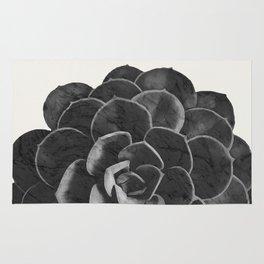 Succulent Black Marble Rug