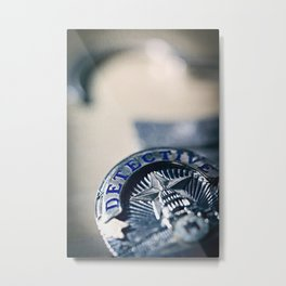 Behind the Badge Metal Print