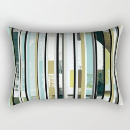 modern mid century, Graphic art, neutral colors, geometric art, circles, modern painting, abstract Rectangular Pillow