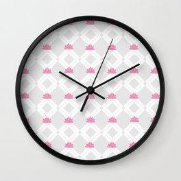 Lotusflowerdiamond Wall Clock