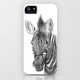 Aztec zebra iPhone Case