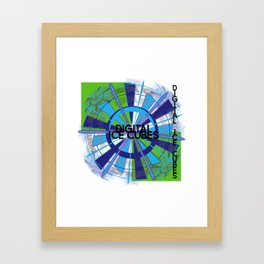 Digital Ice Cubes by Jeronimo Rubio Copyright 2016 Framed Art Print