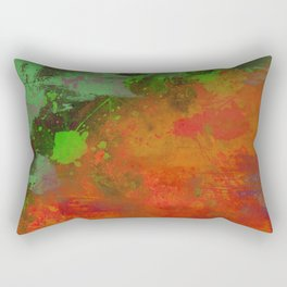 A Difference Of Opinion (Abstract painting) Rectangular Pillow