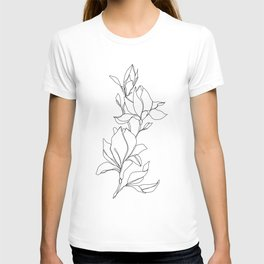 Botanical illustration line drawing - Magnolia T-shirt