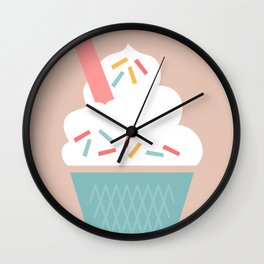 Ice Cream (Peach) Wall Clock