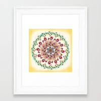 mandala Framed Art Prints featuring Mandala  by famenxt