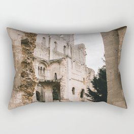 Jumieges Abbey | ruin in France on the Normandy Coast Rectangular Pillow