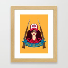 Dangerous Girls - Redneck Framed Art Print