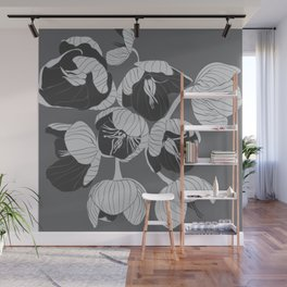 Hellebore in mono Wall Mural