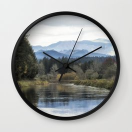 Leaburg Canal in the Fall Wall Clock