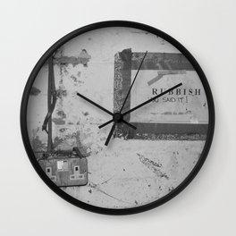 Rubbish Wall Clock