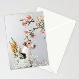 My baby sent me flowers Stationery Cards